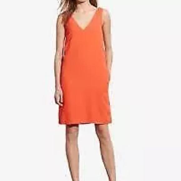 442e557b Ralph Lauren Dresses | Lauren Orange Vneck Sheath Dress | Poshmark